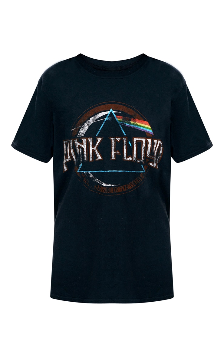Pink Floyd Slogan Black T Shirt 3