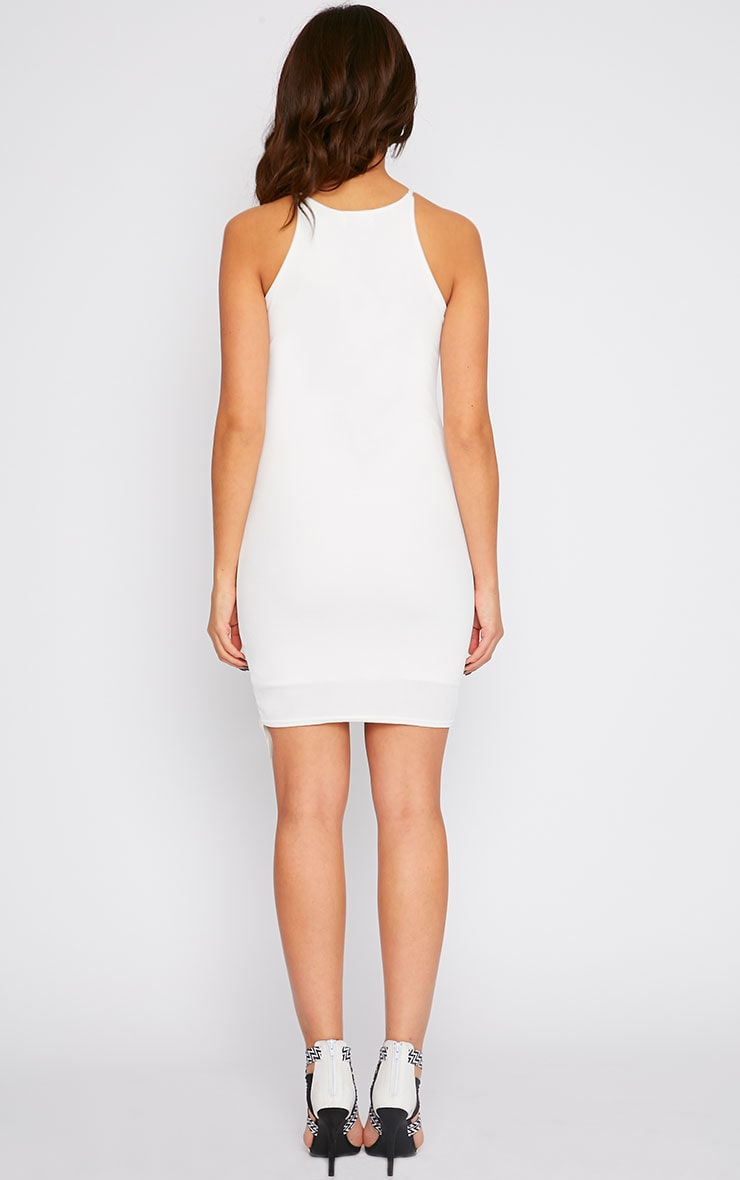 Vanessa Cream Racer Neck Wrap Front Midi Dress 2