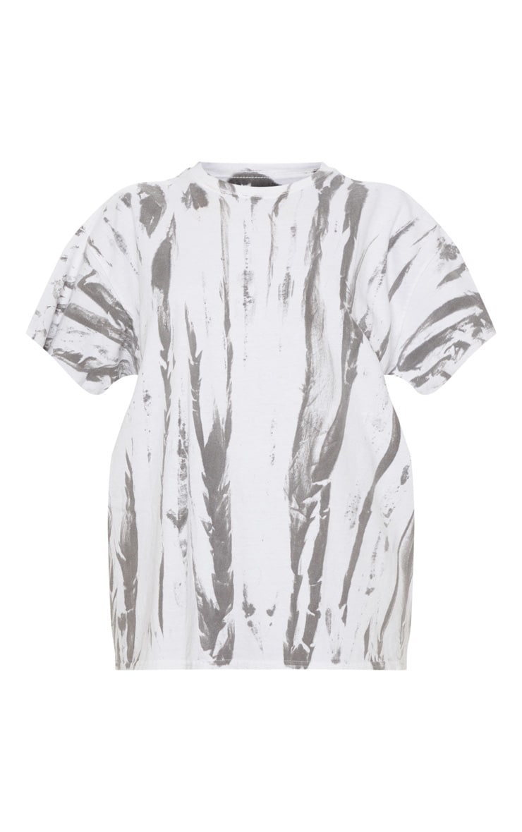 White Tie Dye Oversized T Shirt 3