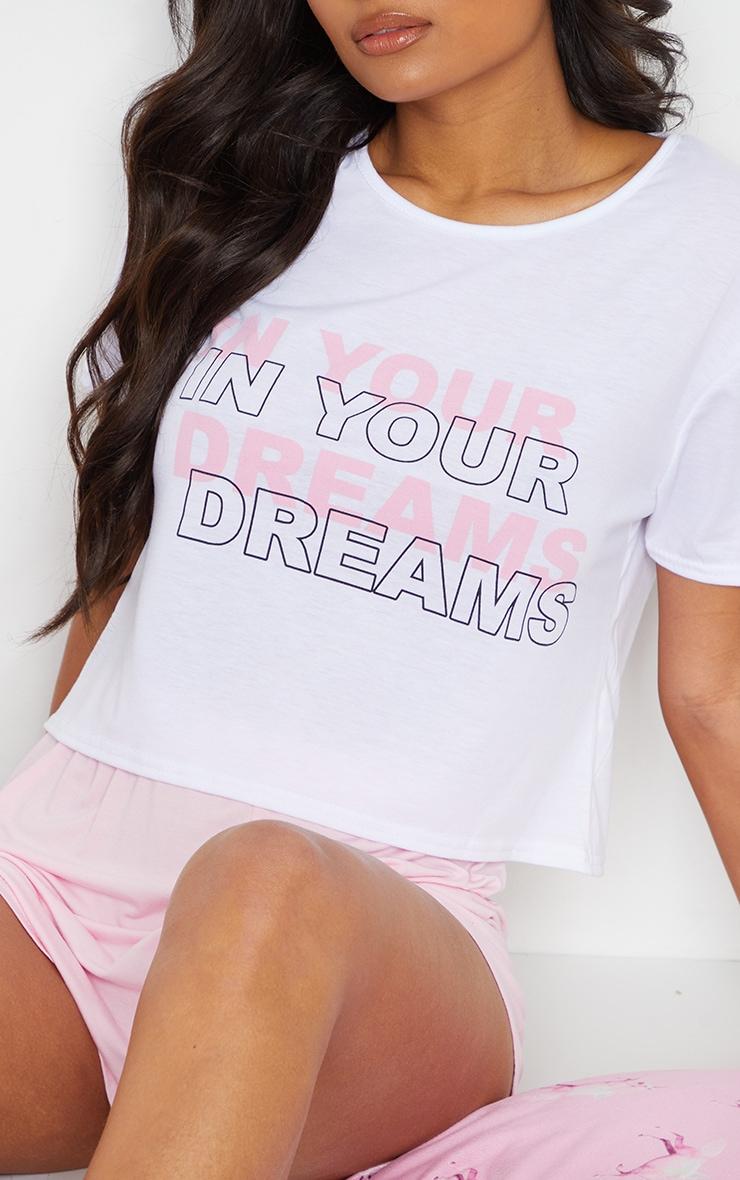 Pink In Your Dreams Print Short Pj Set 4