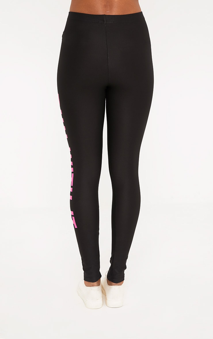 Run With It Black Sports Leggings 4