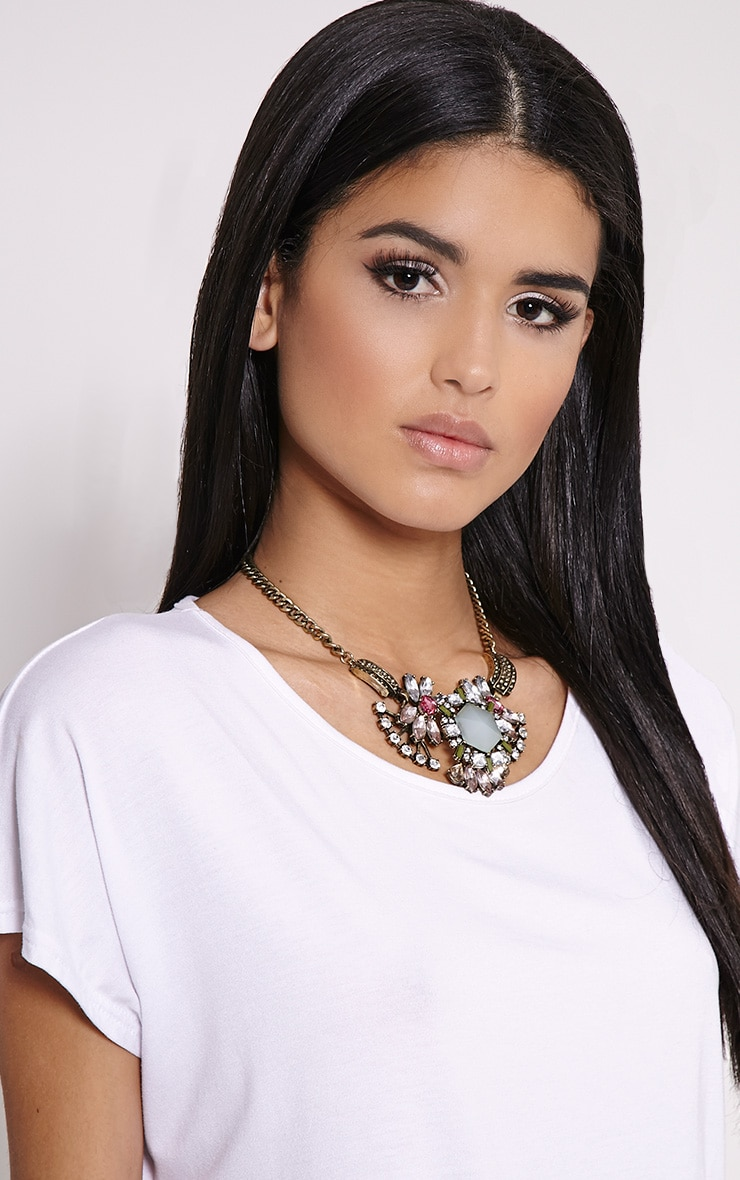 Celia Gold Chunky Diamante Necklace 3