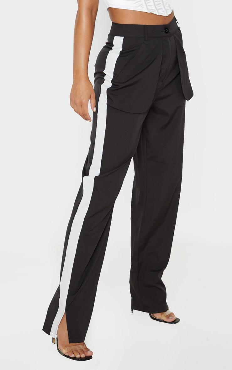Petite Black Inside Out Pocket Trouser 2