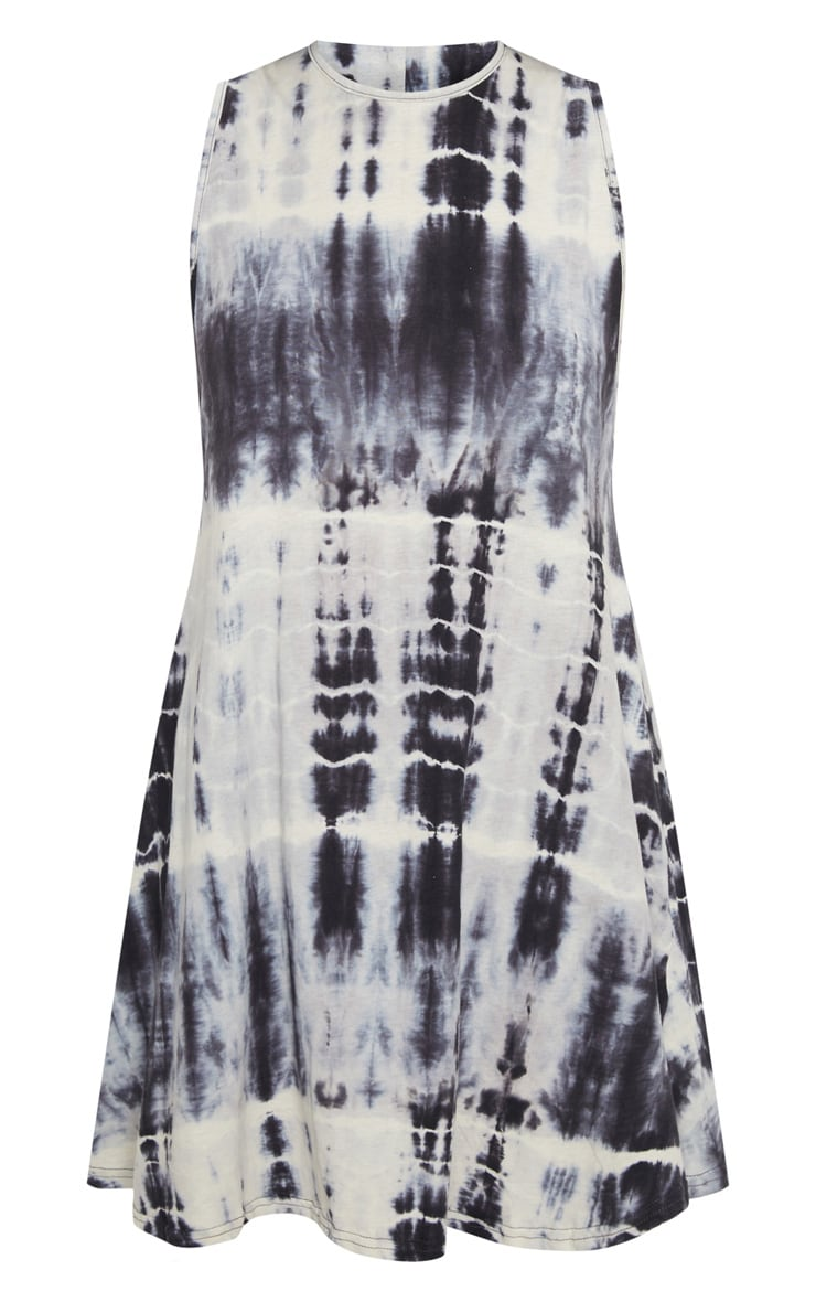 Monochrome Tie Dye Shift Dress 3