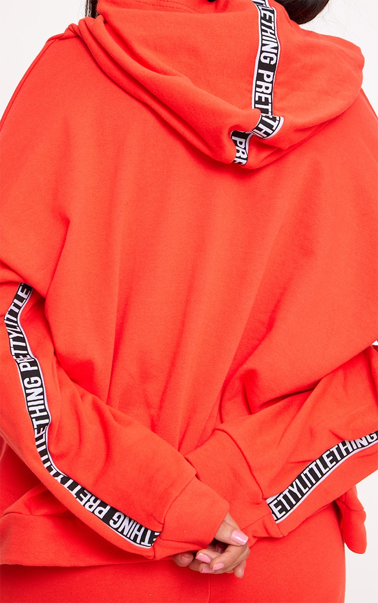 PRETTYLITTLETHING Red Branded Oversized Hoodie 5