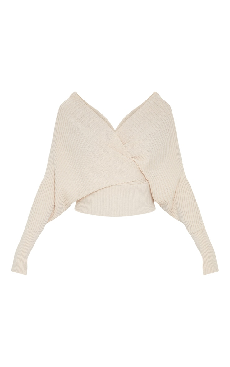 Stone Wrap Off The Shoulder Jumper 3