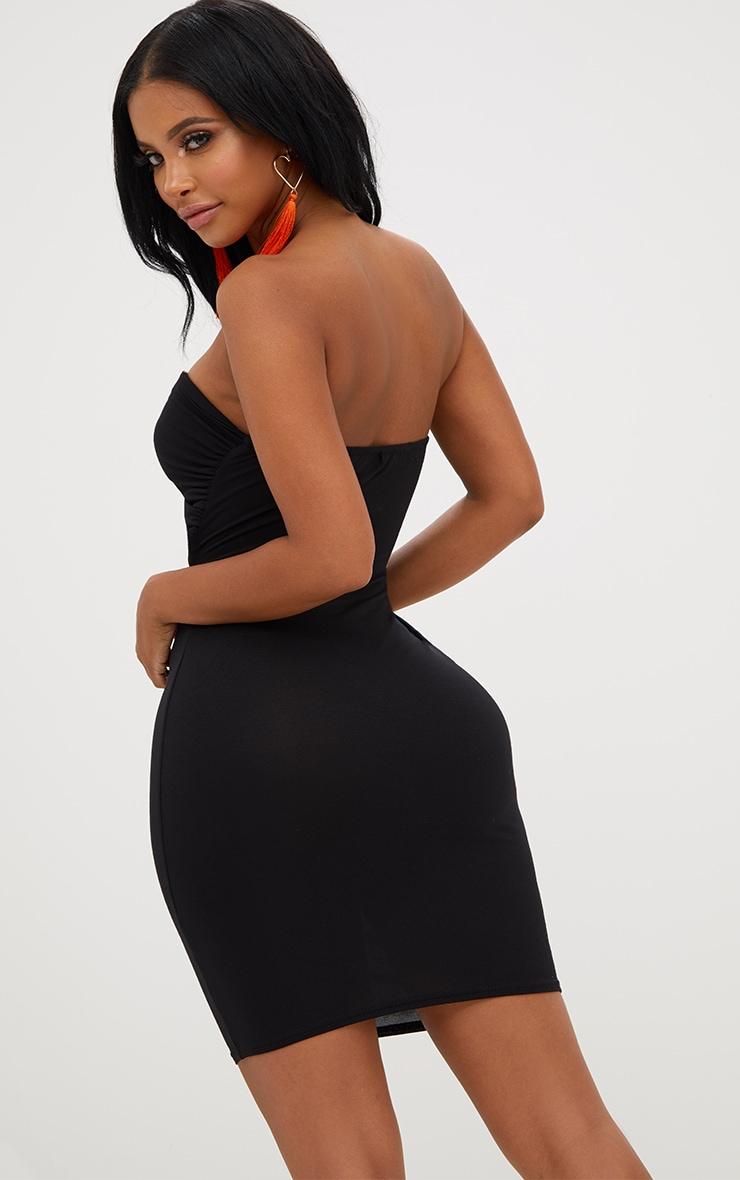 Shape Black Bow Front Dress 2