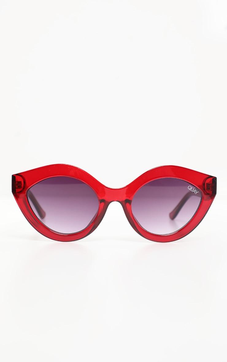 QUAY AUSTRALIA Red Goodnight Kiss Sunglasses 2