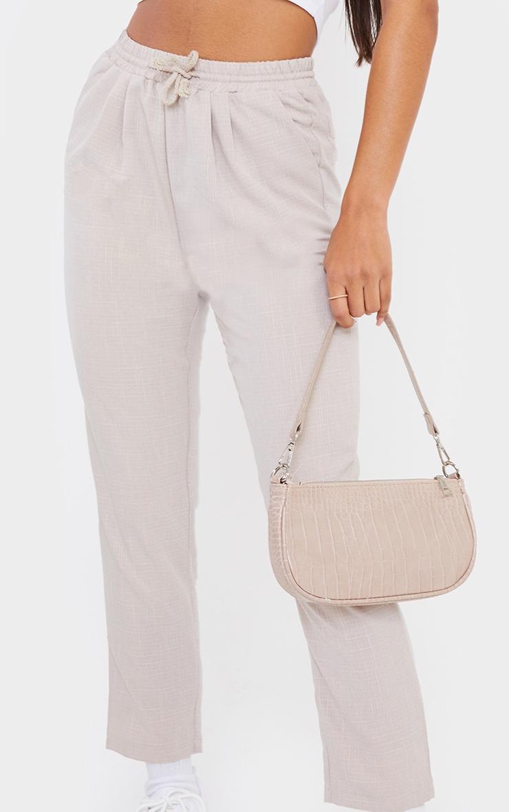 Pantalon style casual gris pierre 4