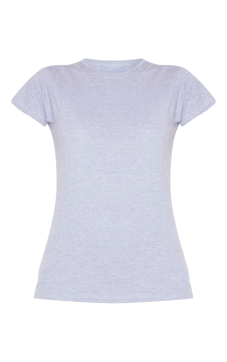 Tee-shirt simple cintré gris  5