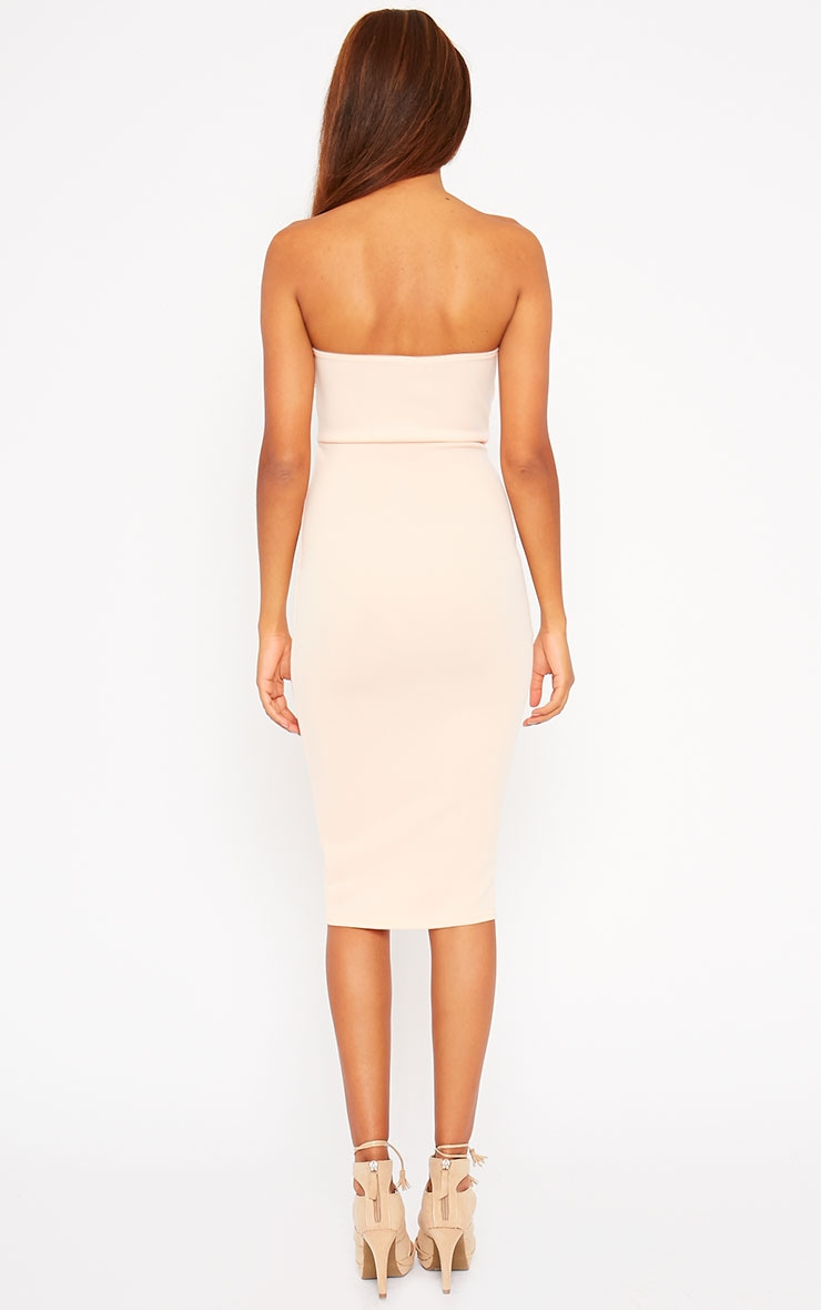 Zenda Nude Bandeau Midi Dress 2