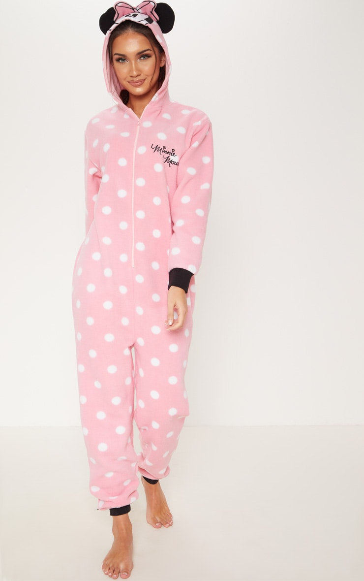 Pink Disney Minnie Mouse Polka Dot Onesie 1