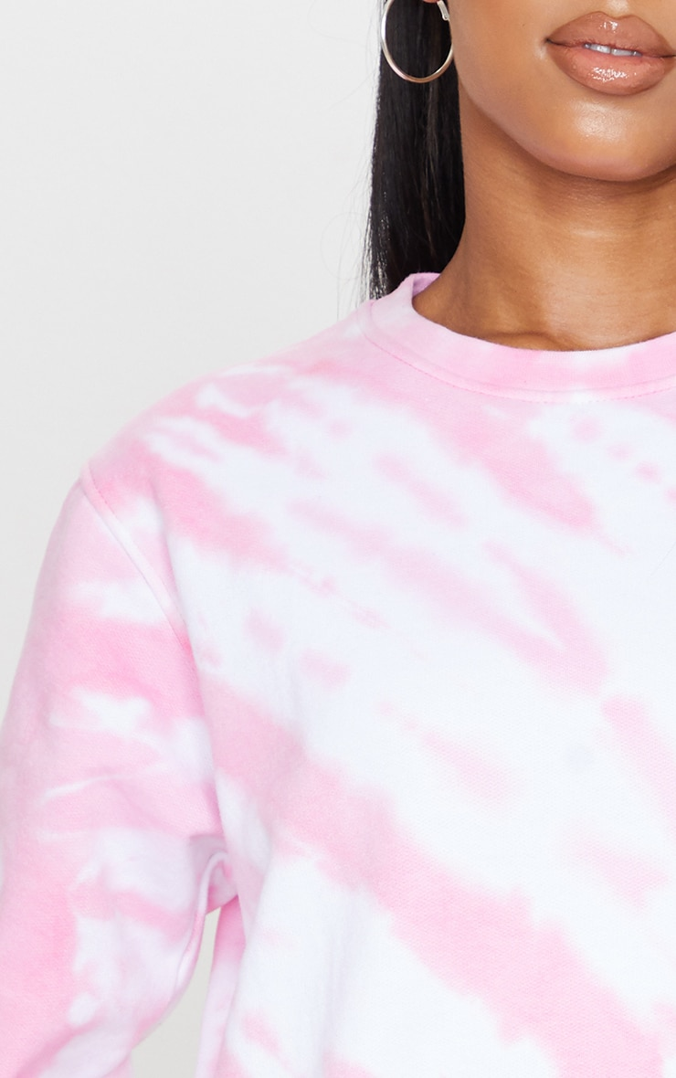 Pink Oversized Tie Dye Sweater 4