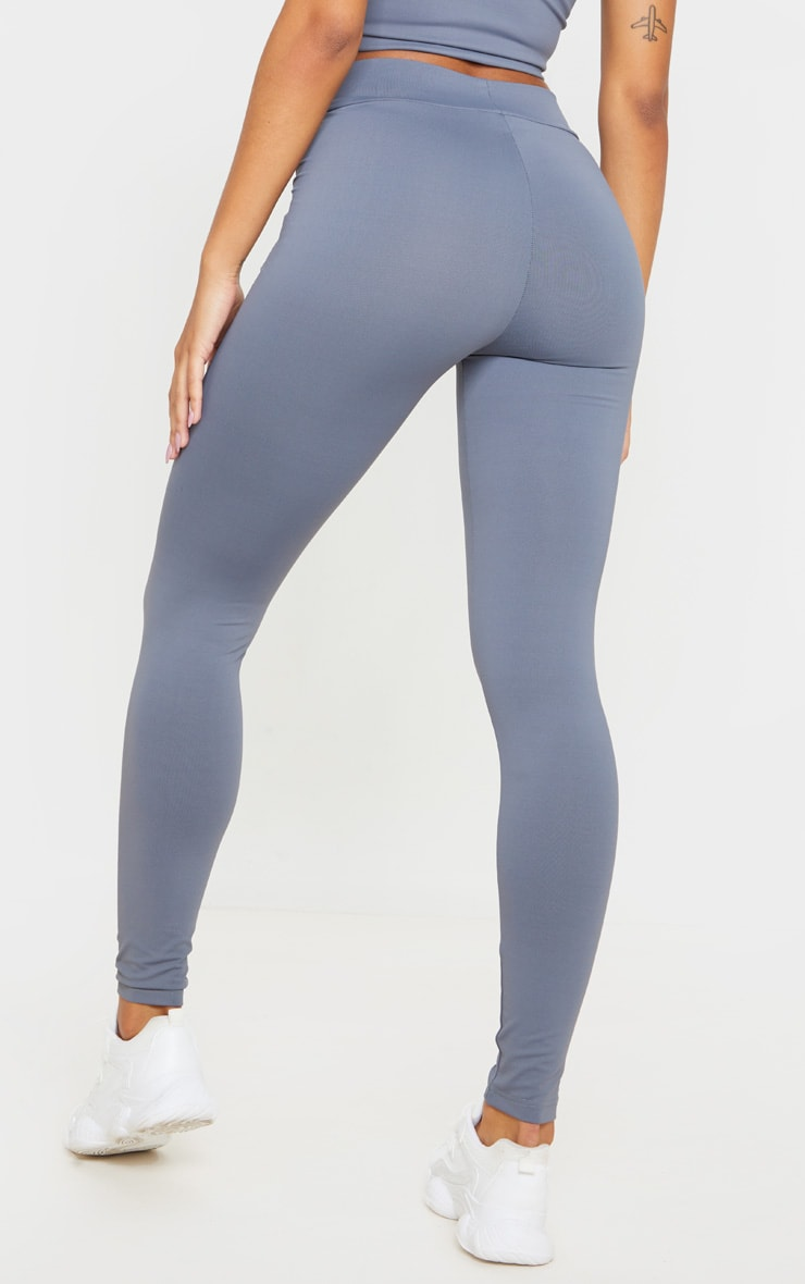 Charcoal Luxe High Waist Gym Legging 4
