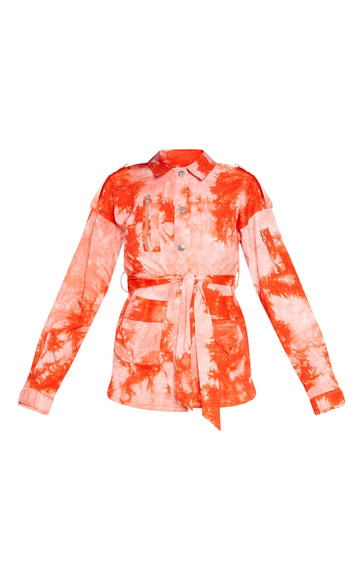 Orange Tie Dye Utility Jacket 3