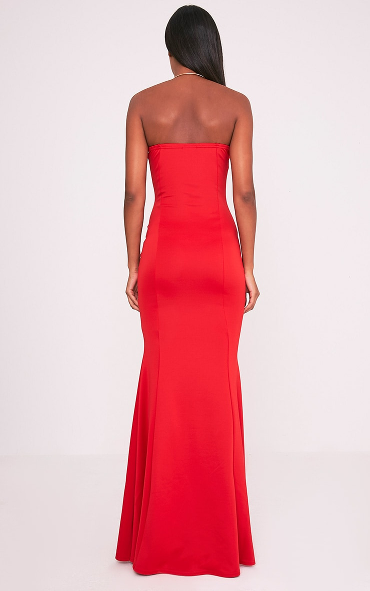 Wendie Red Sweetheart Fishtail Maxi Dress 2