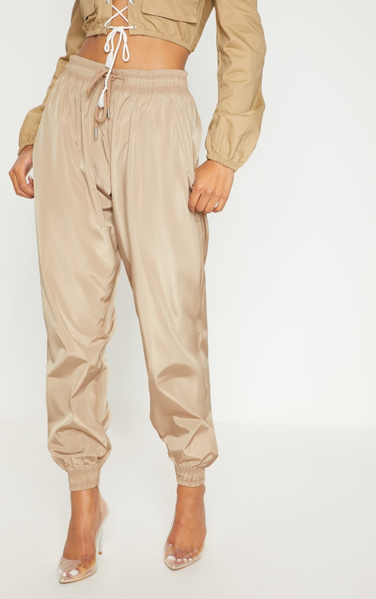 Taupe Drawstring Waist Shell Trouser 2
