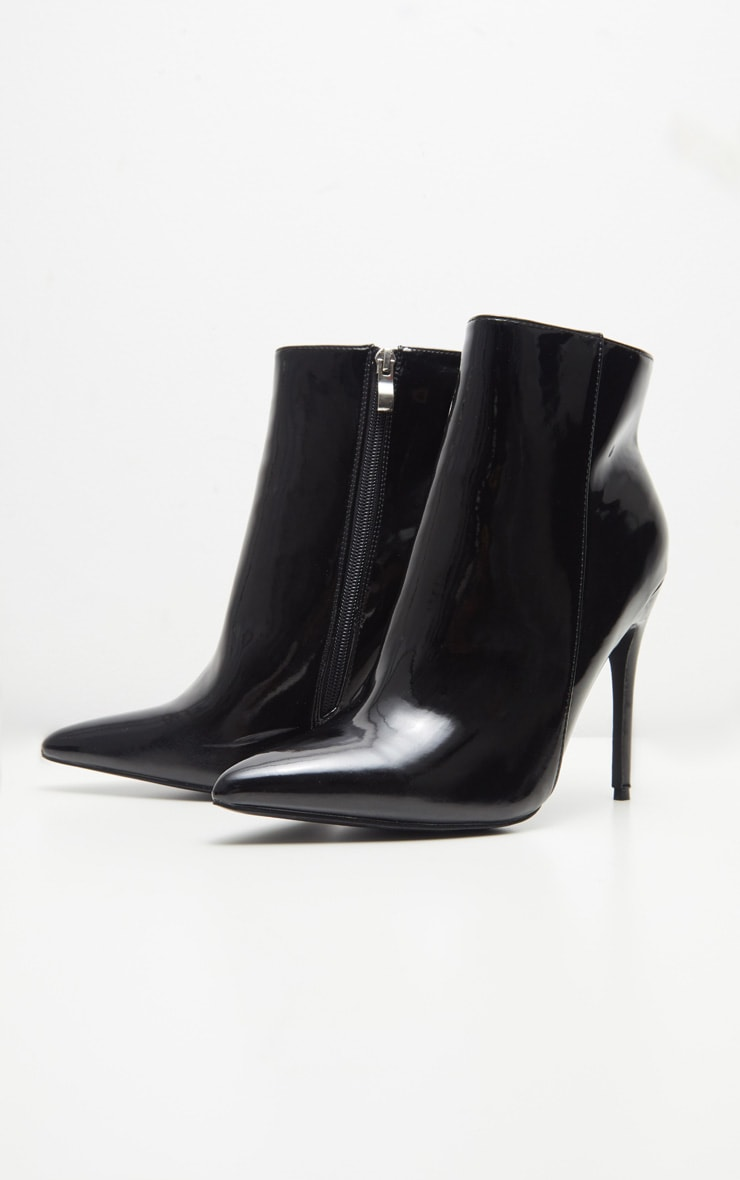 Bottines noires vernies pointues 3