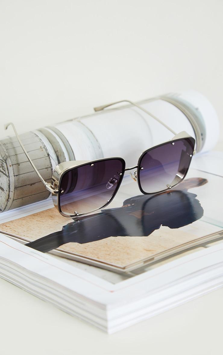 Black Fade Oversized Squareframe Frameless Sunglasses 2