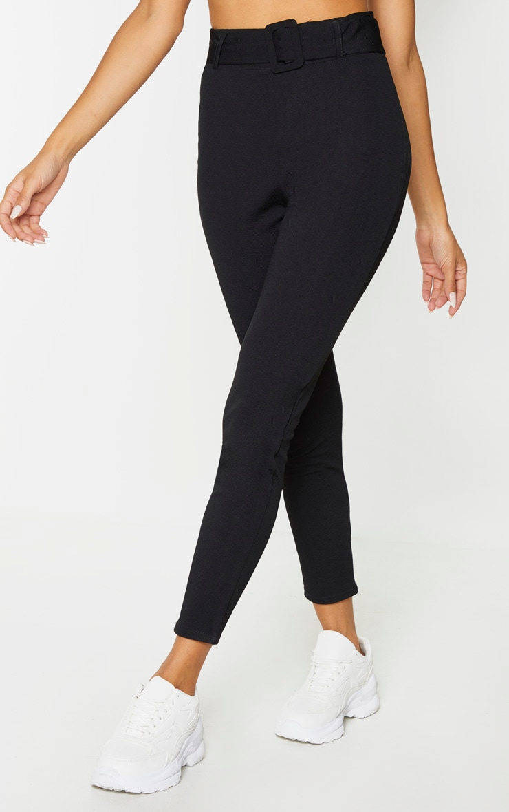 Black Belted Skinny Trousers 2