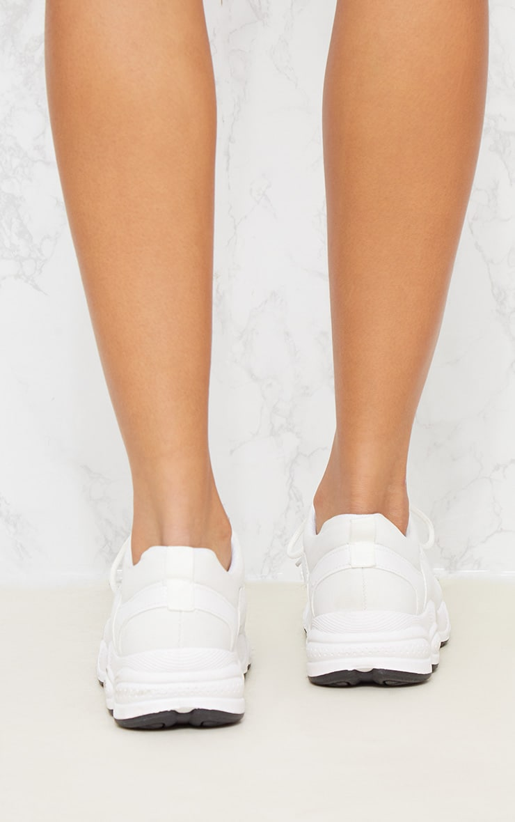 White Chunky Sneakers 5