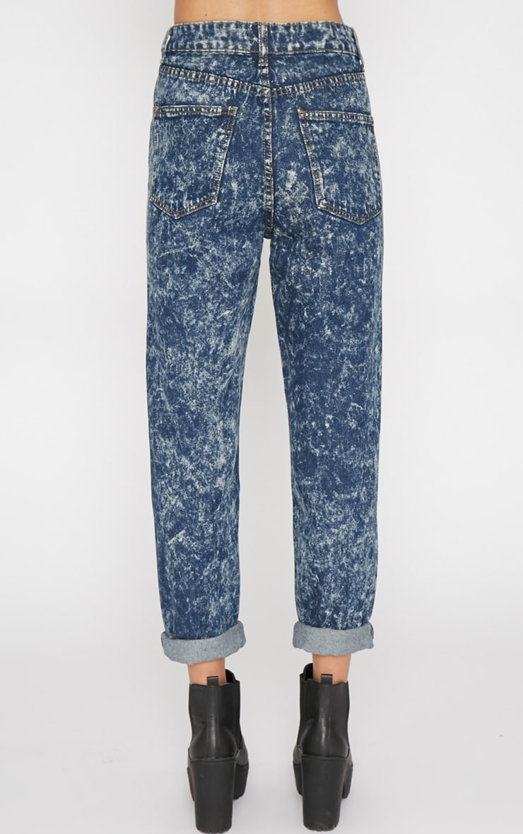 Saskia Blue Acid Wash Mom Jeans 2