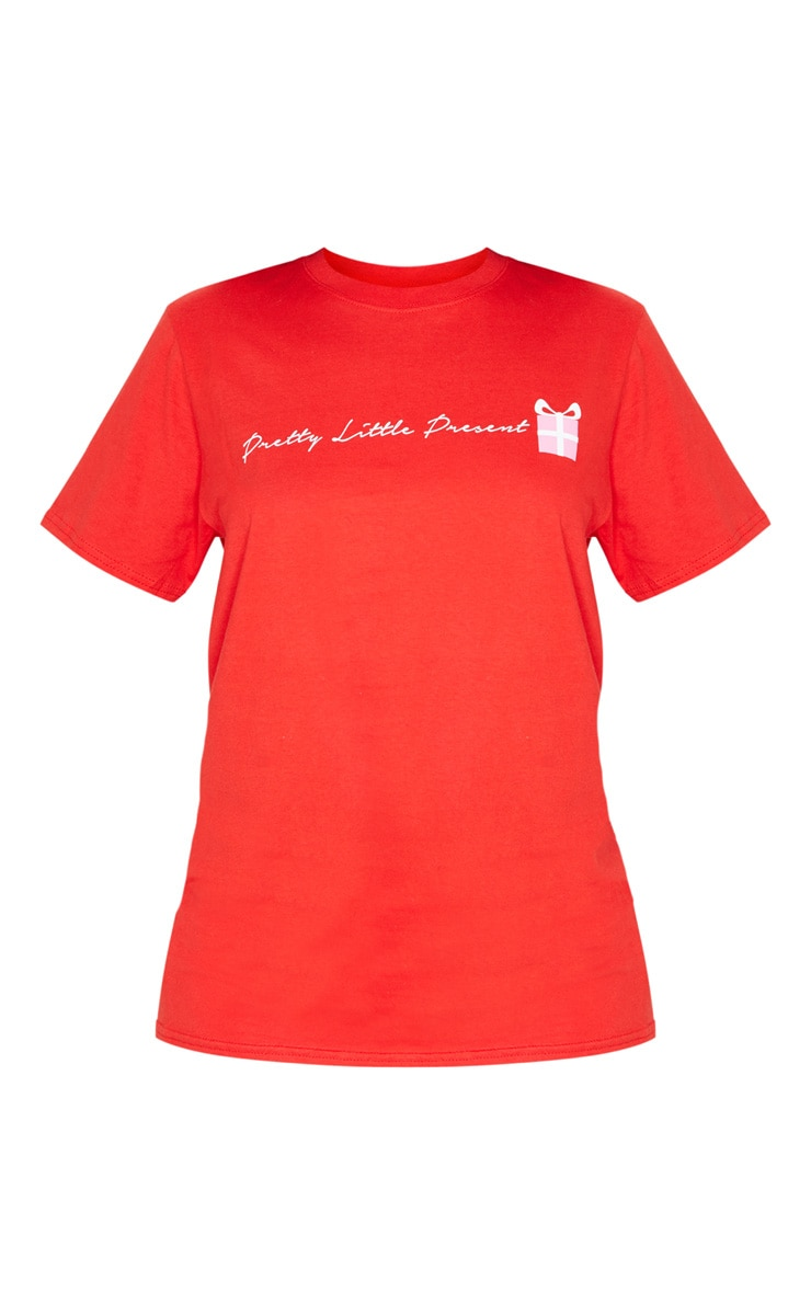 Red Pretty Little Present T Shirt 3