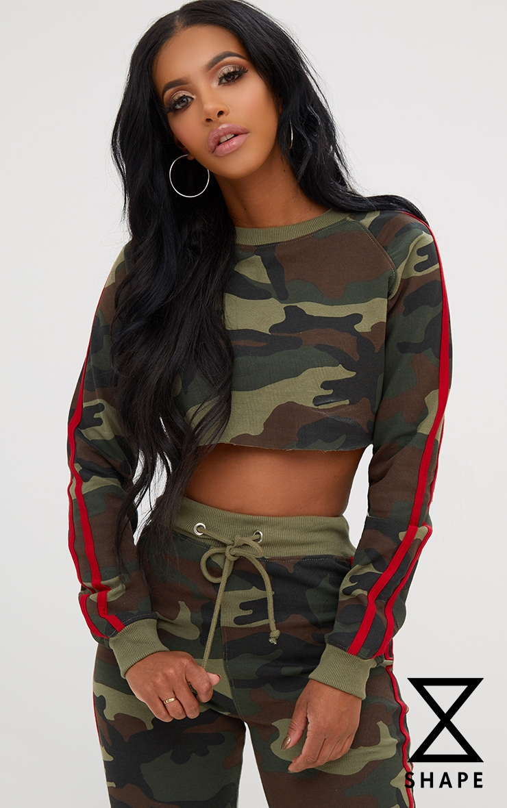 Shape Camo Side Stripe Sweater 1