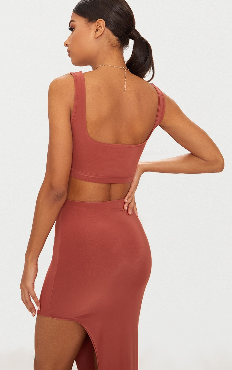 Spice Second Skin Slinky Square Neck Crop Top 2