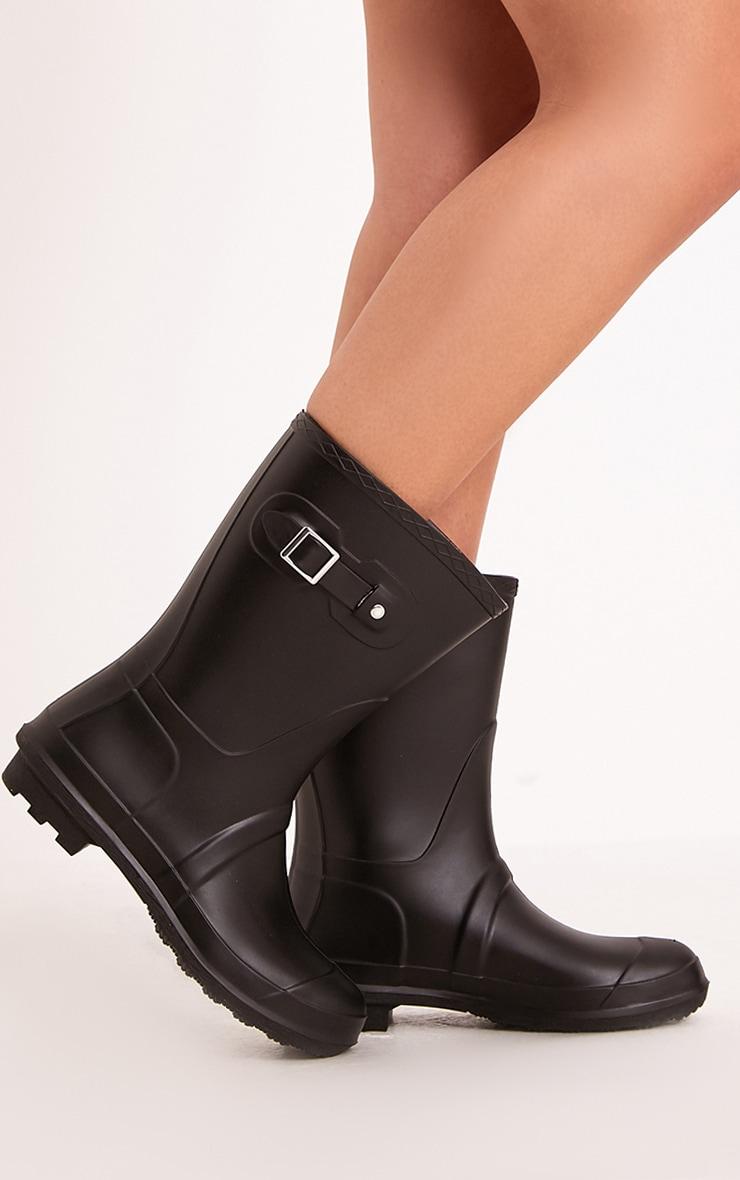Janiah Black Short Rain Boots 1