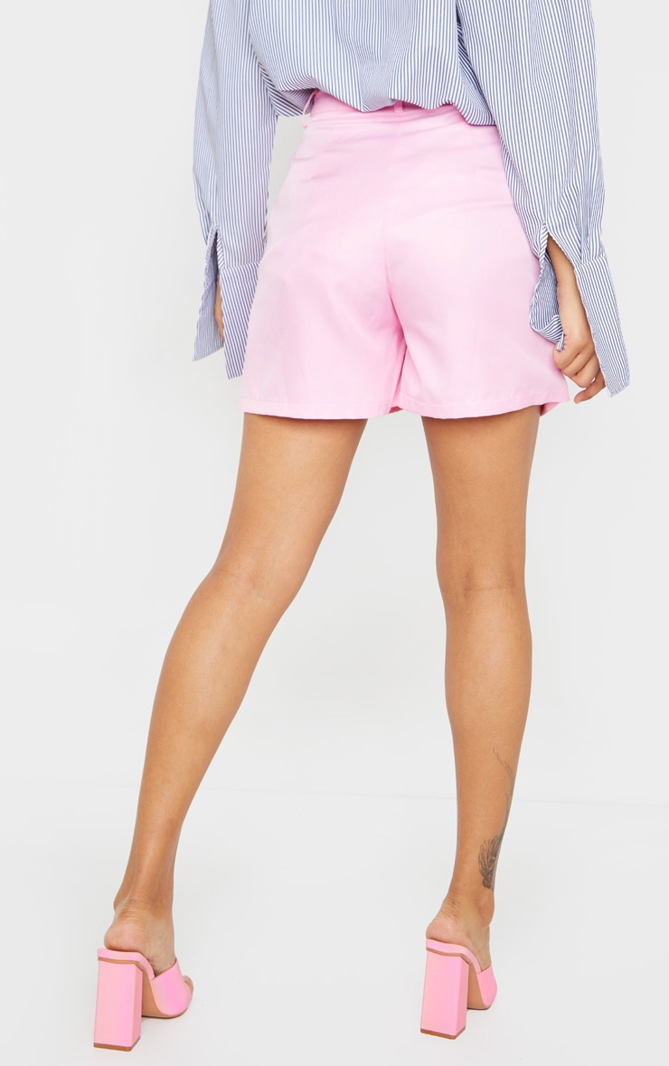 Pink Woven Tailored Short 4