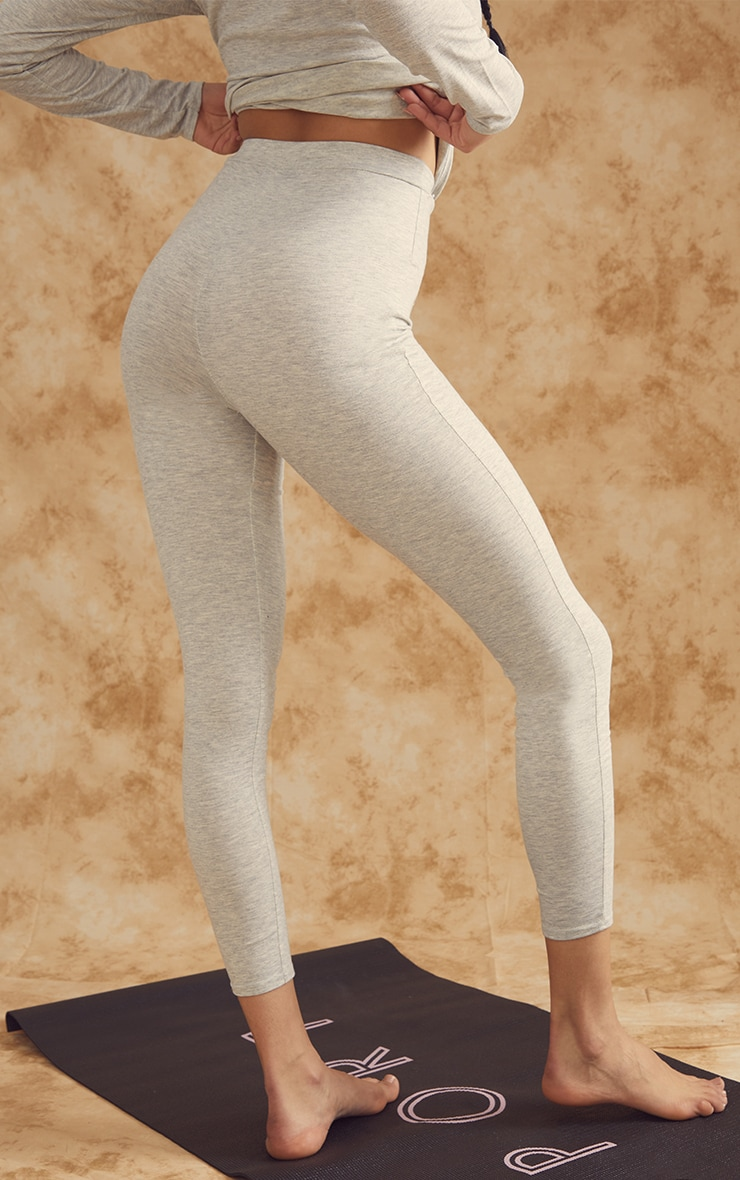 Grey Soft Yoga Leggings 3
