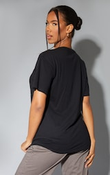 Black Biggie 96 Print Oversized T Shirt 2