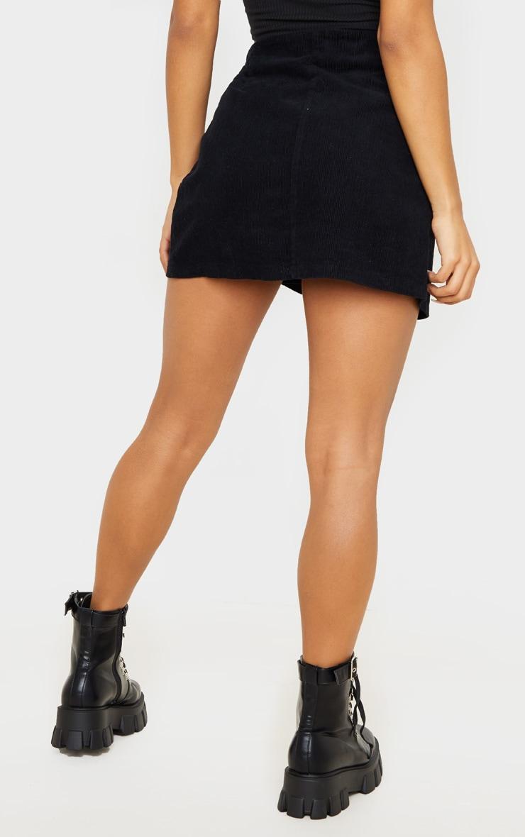Black Cord Wrap Detail Side Buckle Skirt 4