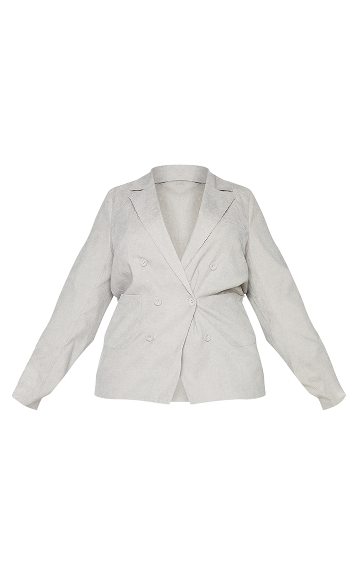 Plus Grey Cord Double Breasted Blazer 5