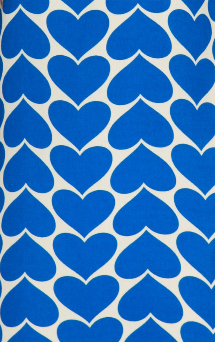 Maria Blue & Cream Heart Dress 4