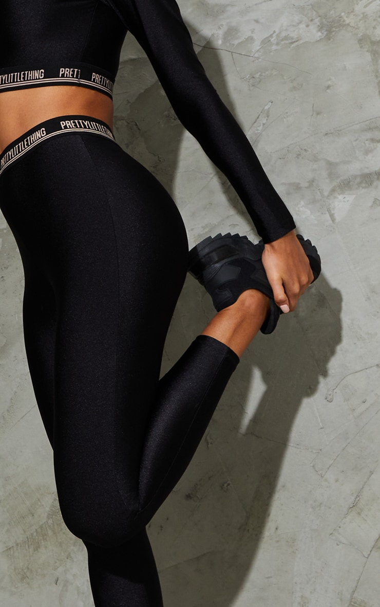 PRETTYLITTLETHING Black Gym Legging 4