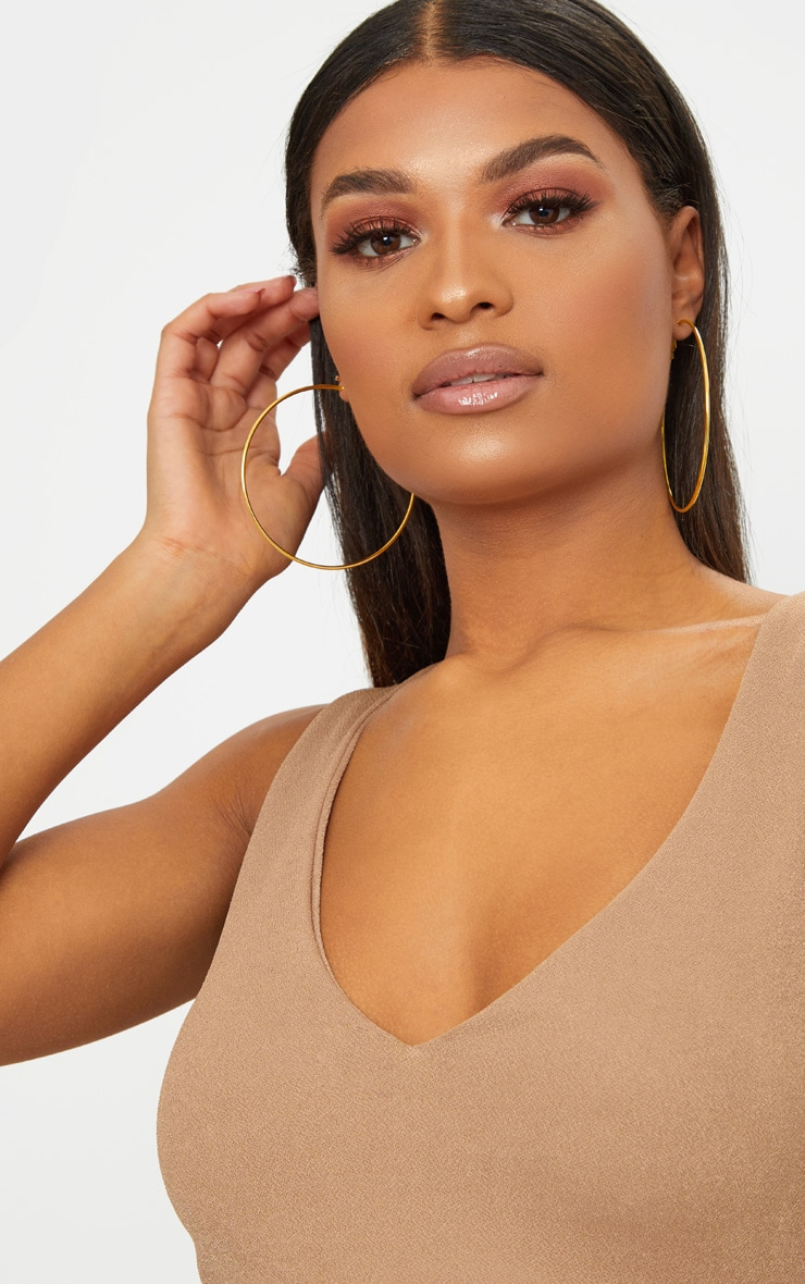 Gold 80mm Hoop Earrings 1