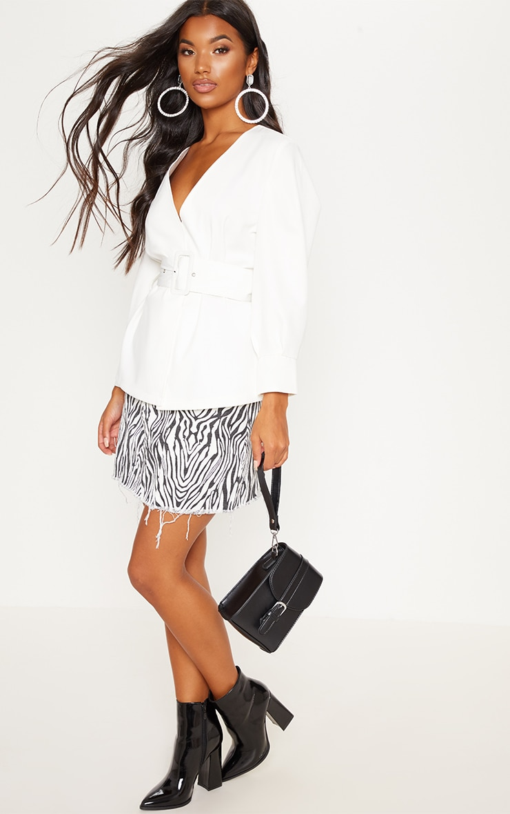 Ivory Belted Shirt 4