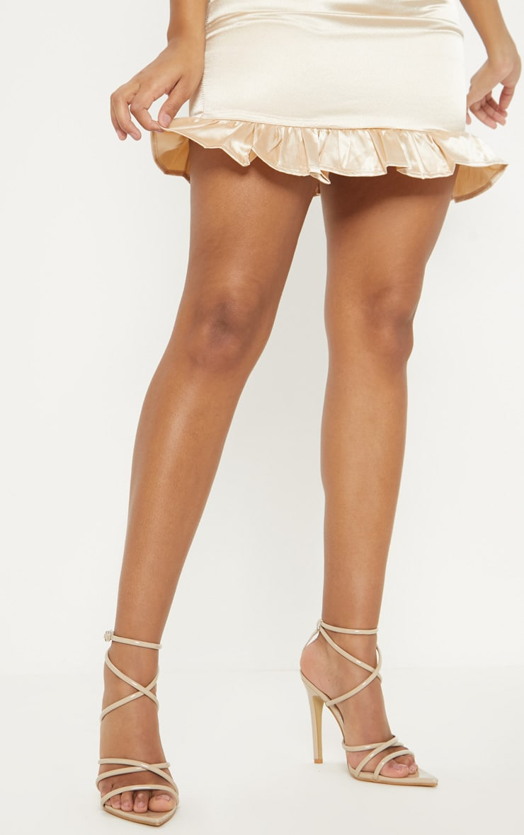 Nude Tube Strappy Point Toe Sandal 2