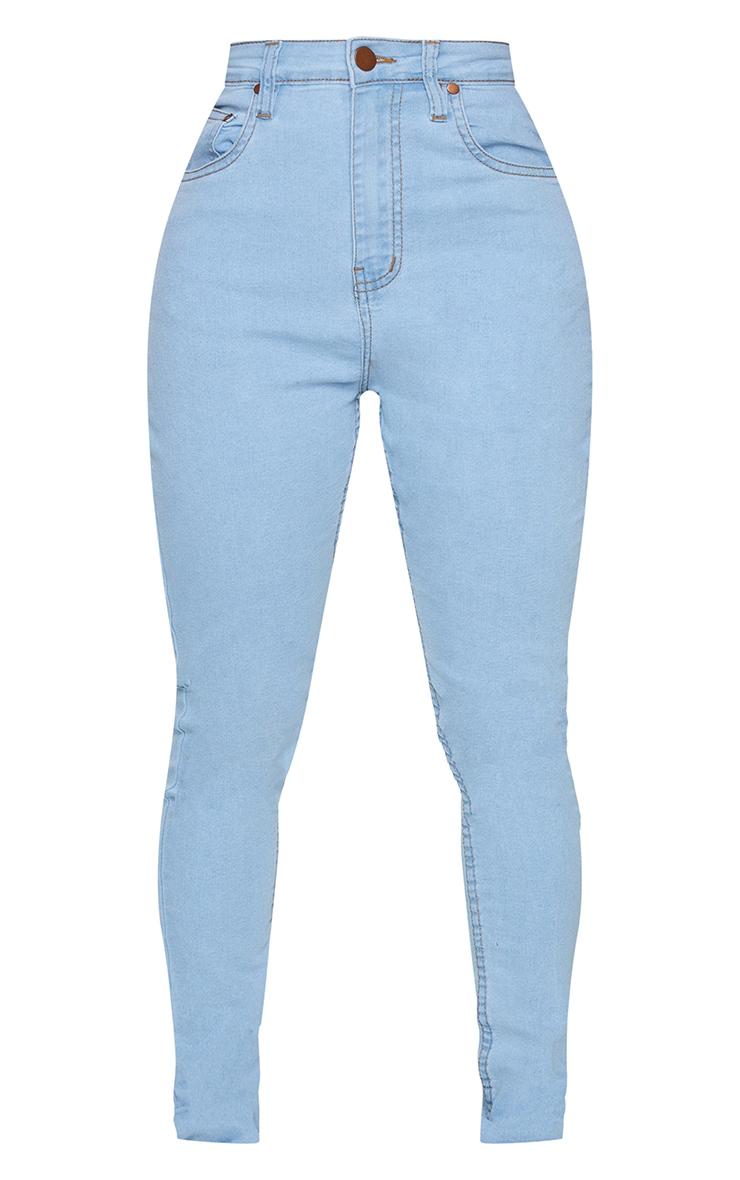 Shape Light Wash High Waist Super Stretch Denim Jeans 5