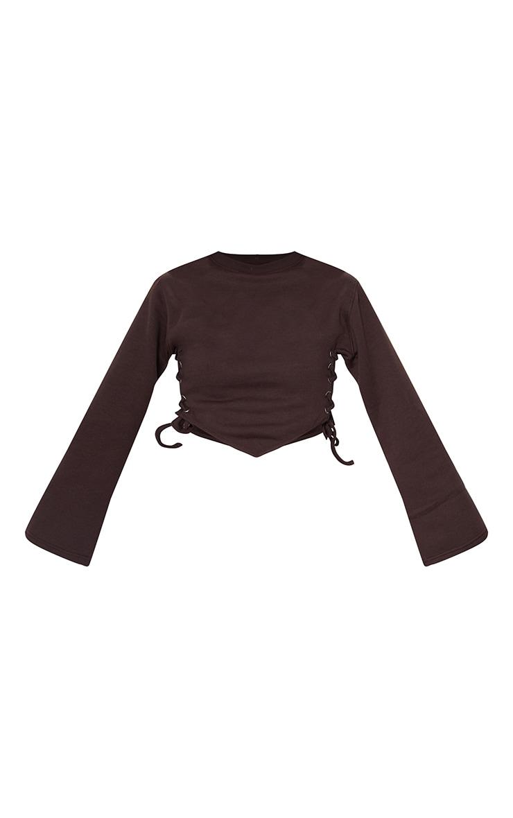 Chocolate Lace Up Side Sweatshirt 5