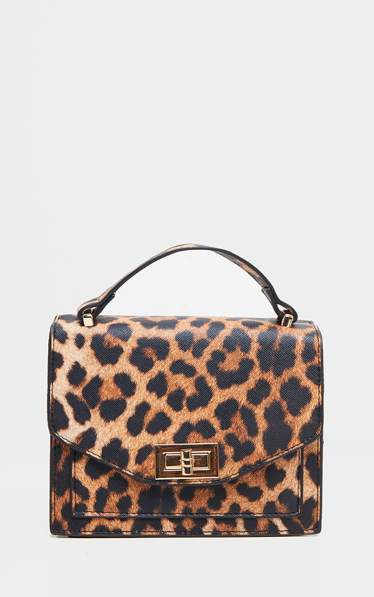 Leopard PU Box Cross Body Bag 3