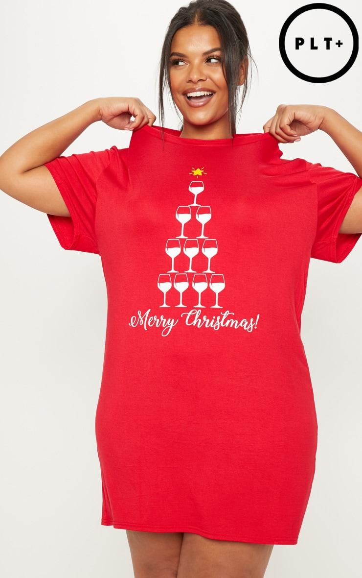 PLUS RED 'MERRY CHRISTMAS' NIGHTIE