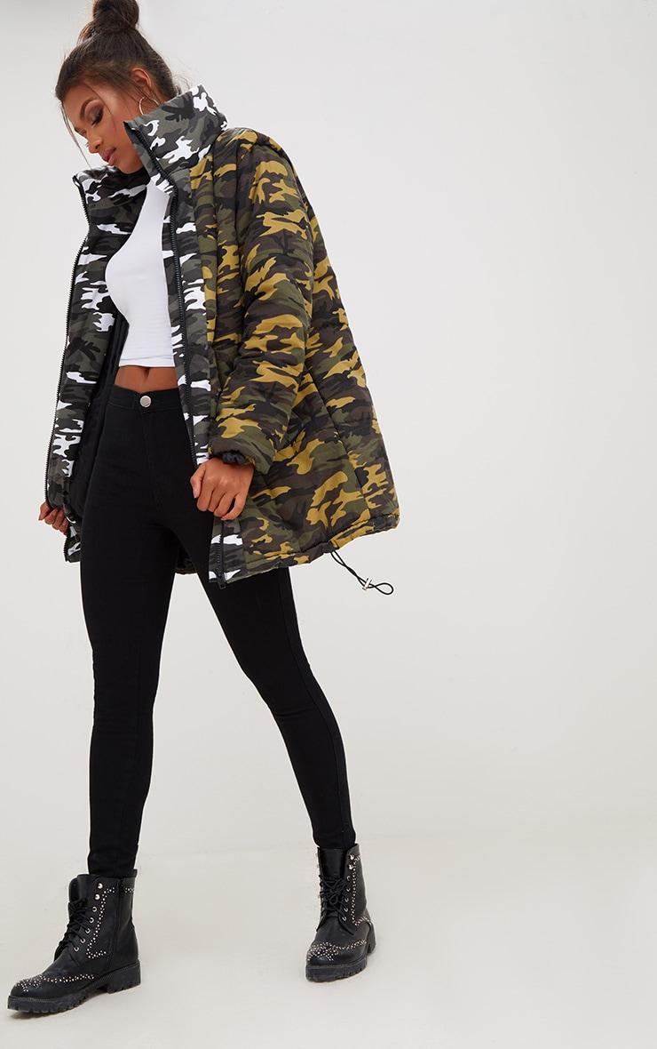 Khaki Oversized Camouflage Coat 4