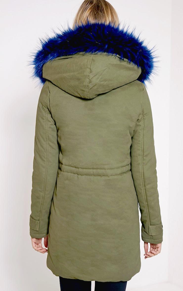 Jen Blue Fur Lined Premium Parka Coat 2