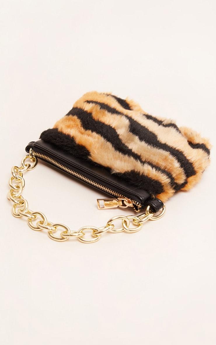 Tiger Faux Fur Handbag 3
