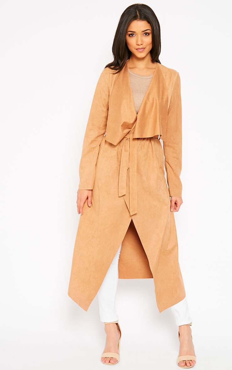 Liberty Camel Suede Waterfall Coat 1