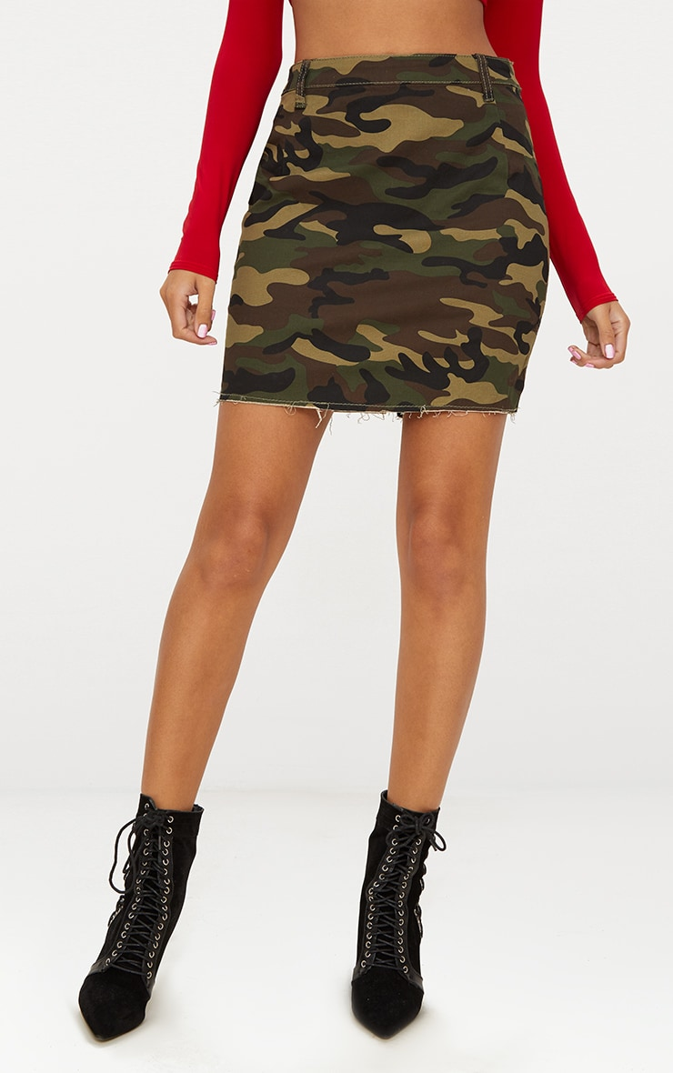 Camouflage Denim Mini Skirt 2