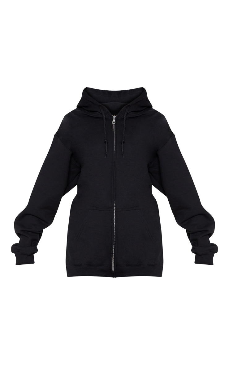 Black Fleece Zip Up Hoodie 3